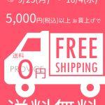 5000円以上で送料無料キャンペーン!【9月25日~10月4日の10日間限定】インターネットを使ってPROVICEでお買い物してみませんか?